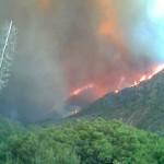 Big Tujunga Canyon on Fire