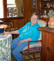 Lois Rainwater in her home, 2003